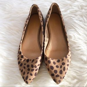 Old Navy leopard flats size 7